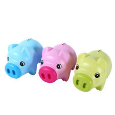 Hot Sale Rose Red Coin Cash Money Saving Box Pig Toy Christmas For Kids Gift