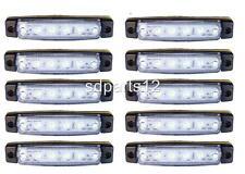 10 x 24V,24 Volts BLANC 6 LED FEUX DE GABARIT CAMION CARAVANE CHASSIS REMORQUES