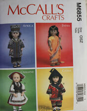 """18"""" GIRL DOLL COSTUME/CLOTHES McCall's Pattern 6855/P324 American Made NEW"""