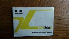 KAWASAKI  GPZ 500 S D3 E3  OWNERS  MANUAL  / HANDBOOK / BOOKLET