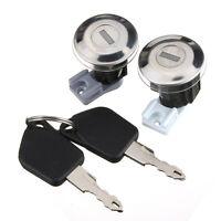 Pair Front Door Locks Barrels Set With Keys For Peugeot 106 Mk2 II 97-04 205 405