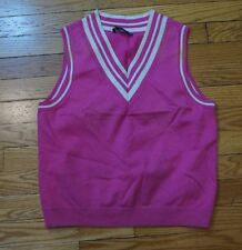 Ralph Lauren Active Cotton Vest Pink/White Women's Medium