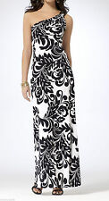 NWT Cache SEXY Black & White One Shoulder MAXI Dress Evening  Gown   S  2 - 4