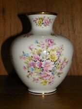 "Royal Porzellan Bavaria ~ KMP ~  Pink Roses and Pastel Flowers ~ 4.75"" Vase"