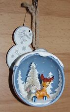 Disney Store Bambi Thumper Decoration Bauble Disneyland Paris tree Christmas