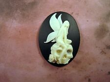 40x30mm Skull Fairy Cameo (1) - L859-1  Jewelry Finding