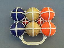 Ancienne sacoche boule de pétanque plastique pour enfants Mob  antique game