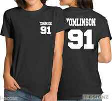 Louis Tomlinson 91 One Direction 1D Band Women's T-Shirt Funny Ladies Tee Top