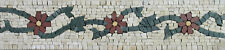 Details about  Art Tile Stone Red Flowers Home Border Marble Mosaic BD541