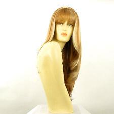 Perruque femme longue blond foncé méché blond clair NOEMIE F27613