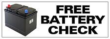 1ftx3ft FREE BATTERY CHECK PVC OUTDOOR BANNER GARAGE WORKSHOP