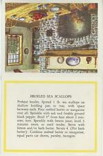 SEA SCALLOP RECIPE KITCHEN PRINT CARD 1 DAIRY MAID SPRING GARDEN CROPS COW CARD