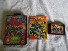 SEGA GENESIS 1993 X-MEN VIDEO GAME PLASTIC CASE COLLECTORS GUIDE 1-2 PLAYERS EC!