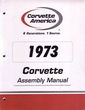 1973 Chevrolet Corvette Assembly Manual Book Rebuild Instructions Illustrations