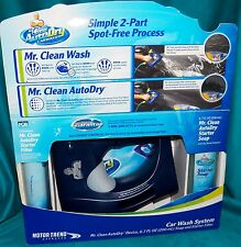 Mr Clean Autodry Car 2 Part Wash System Starter Kit Spray Device Soap & Filter