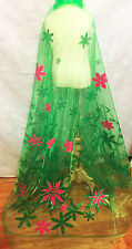Frozen Inspired Elsa Fever Flower Print Organza Cape Play Costume Panel Fabric