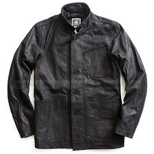 G-STAR RAW MEN'S A CROTCH BUFFALO LEATHER JACKET BLAZER BLACK  SIZE XL/ X-LARGE