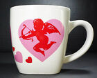 Valentines Day Cup or Mug with Cupid and Red Hearts Square Ceramic Stoneware