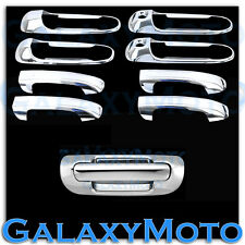 99-04 JEEP GRAND CHEROKEE Chrome 4 Door Handle With PSG Keyhole+Tailgate Cover