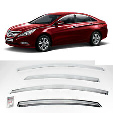 Chrome Window Rain Guard Sun Shield Visor Vent 11 12 13 Hyundai Sonata