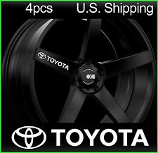 4 TOYOTA Stickers Decals Door handle Wheels Rims mirror Tacoma camry WHITE