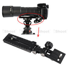 Telephoto Lens Support Holder + Camera Quick Release Plate for Tripod Mount Ring
