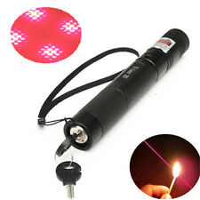 G303 Red Laser Pointer Pen Beam 532nm 5mw Adjustable Focus + Light Star Cap