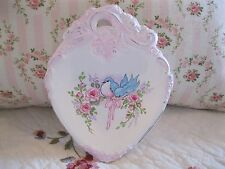 Shabby Chic Hand Painted Roses - Vintage Heart Ornate Metal Dish