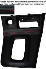 RED STITCH AUTO AUTOMATIC GEAR SURROUND SKIN COVER FITS NISSAN SKYLINE R33