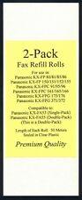 2-pack KX-FA55 Fax Refills for Panasonic KX-FPG175 KX-FPG176 KX-FPG371 KX-FPG372