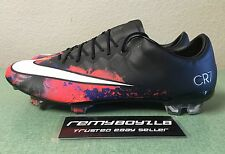 Nike Mercurial Vapor X CR7 FG Black Crimson Mens Sz 10 Superfly Magista ACC NEW!