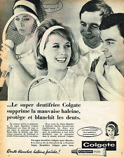 PUBLICITE ADVERTISING 035  1962  COLGATE   dentifrice