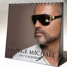George Michael Desktop Calendar 2017 NEW Careless Whisper Freedom Last Christmas