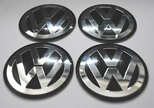 VW Wheel Hub Caps Badge Emblem Stickers METAL 60mm Set OF 4 HIGH QUALITY GOLF