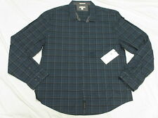 $69 NWT NEW Mens Calvin Klein Roll-Up River Plaid Button Down Shirt XXL 2XL L757