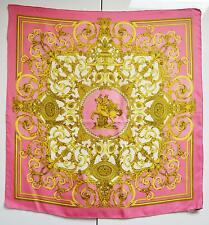 Hermes Hermès 100% Silk Scarf Les Tuileries Pink Vintage Foulard Sciarpa
