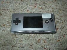 Nintendo Game Boy micro Launch Edition Silver/Black Handheld System Tested