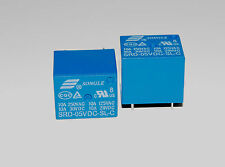 2pcs Mini 5V DC SONGLE Power Relay SRD-5VDC-SL-C PCB Type A024