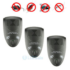 3-Pack Ultrasonic Electronic Anti Mosquito Mice Insect Pest Bug Control Repeller