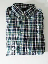 Ralph Lauren Boys Blake Long Sleeve Plaid Poplin Shirt Blue Multi SzL(14-16)-NWT