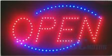 "ANIMATED LED NEON LIGHT LIGHTED OPEN SIGN + CHAIN 19""X10"" US SELLER I LED01"