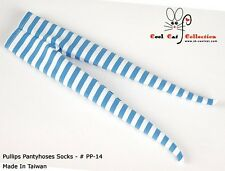 ☆╮Cool Cat╭☆【PP-14】Pullip Pantyhoses Doll Socks # Stripe blue