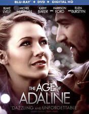 The Age of Adaline (Blu-ray/DVD, 2015, 2-Disc Set) NEW