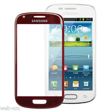 VETRO ESTERNO TOUCH SCREEN DISPLAY SAMSUNG GALAXY S3 SIII mini  i8190 ROSSO