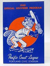 1968 PCL PORTLAND BEAVERS Official Souvenir Program.  mint PACIFIC COAST LEAGUE