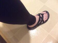 chaco sandals womens 8 Black Strap Slip On Ortho Sole Zong Sport Slide