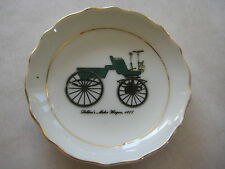 "VINTAGE SELDEN'S MOTOR WAGON 1877 CAR JAPAN SMALL DISH, 3 5/8"" DIA X 1/2"" HIGH"
