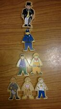 7 - Wooden Figures Sir Topham Hatt & Friends Thomas Trains Wooden Railway