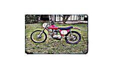 Cheney Bsa B50 Motorbike Sign Metal Retro Aged Aluminium Bike