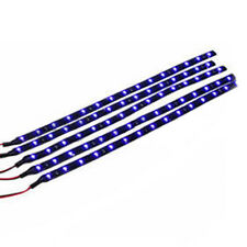 5pcs 30cm 12V 15LED Strip Light Flexible Waterproof Blue For Car Motor Vehicle B